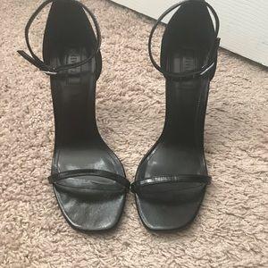 Forever 21 Shoes - Forever21 Black Strap Heels